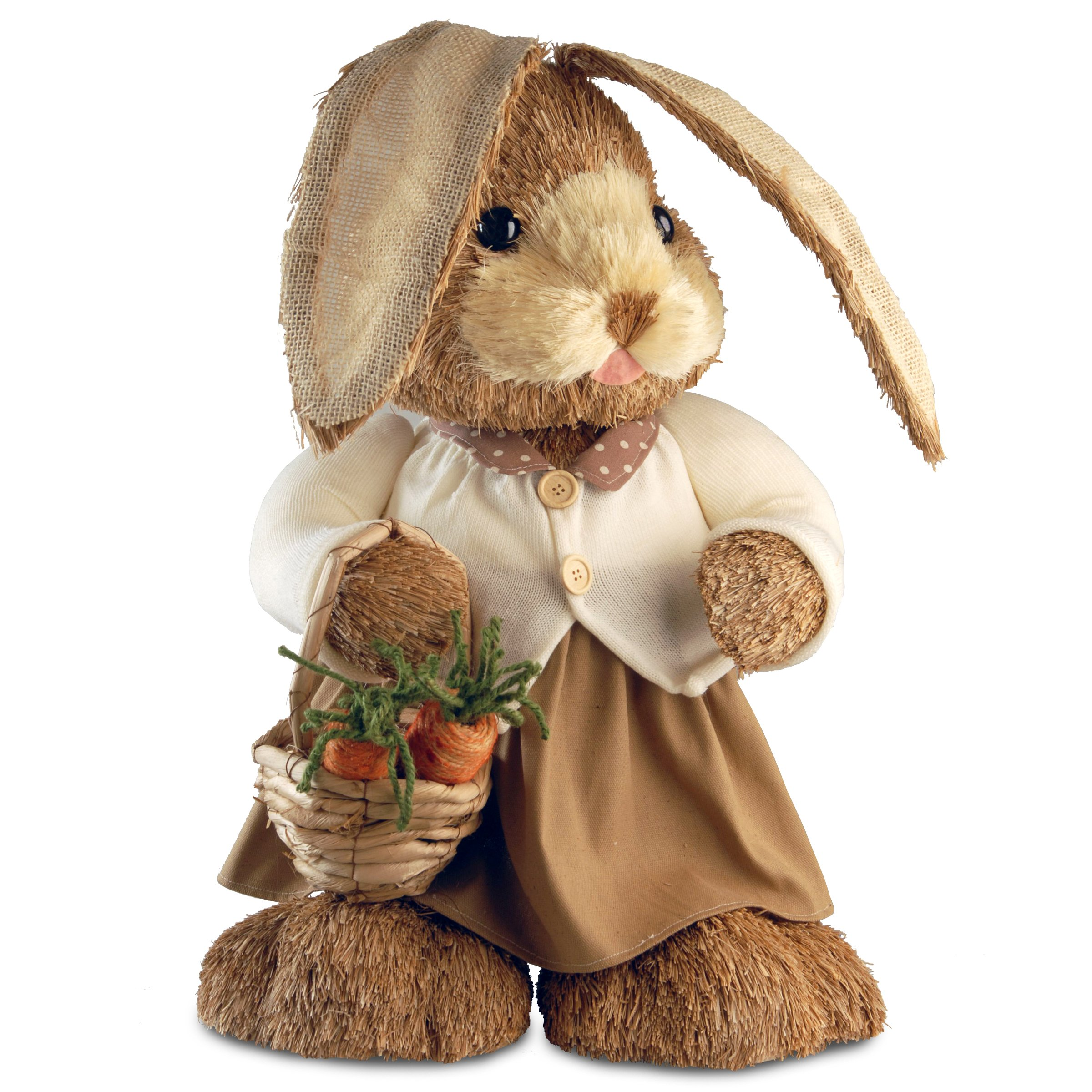 National Tree 36 Inch Brown Standing Rabbit with Sweater (RAE-J1002A4-1)