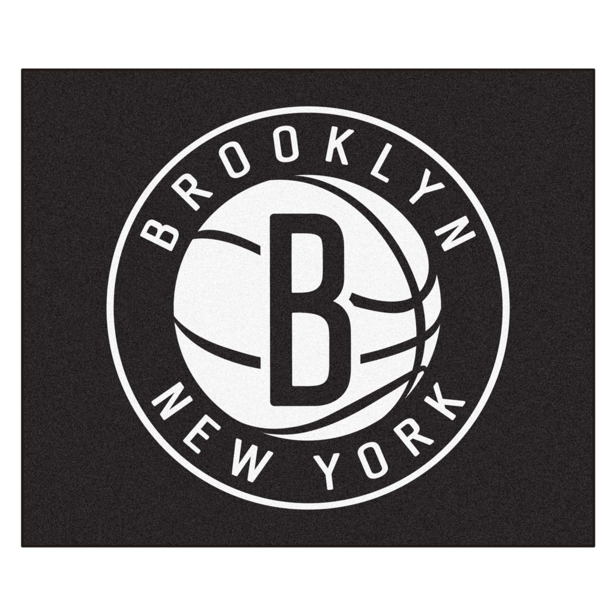 FANMATS 19458 NBA - Brooklyn Nets Tailgater Rug , Team Color, 59.5''x71''