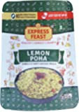 Express Feast Ready to Eat Lemon Poha | 3 minutes easy to cook Lemon Poha | Instant Breakfast Mix | No Preservatives | No Artificial colors | Pack of 4 |