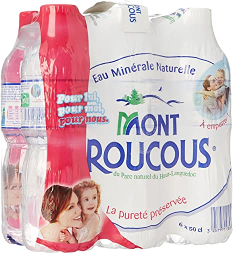 Mont Roucous Agua Mineral Natural Pack De 6 Botellas X 50 Cllot 2: Amazon.es: Bebé