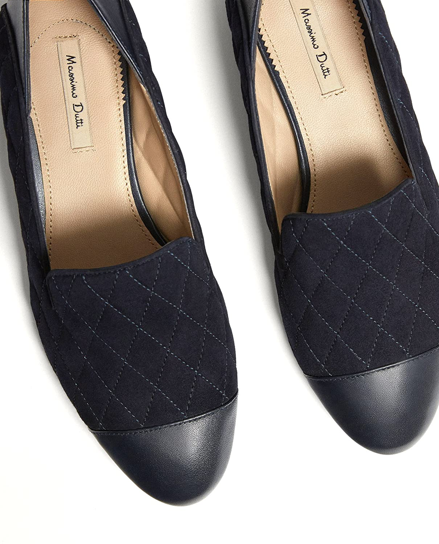 Massimo Dutti Mocasines de Piel Para Mujer Azul Azul, Color Azul, Talla 41 EU | 10 US | 8 UK: Amazon.es: Zapatos y complementos