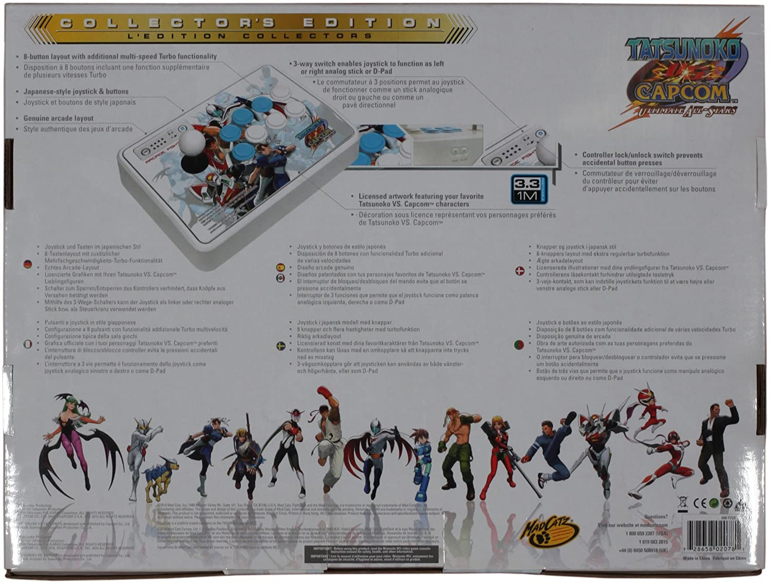 Buy Wii Tatsunoko Vs Capcom Arcade Fightstick Online At Low Prices 3 Way Switch Animation In India Mad Catz Video Games