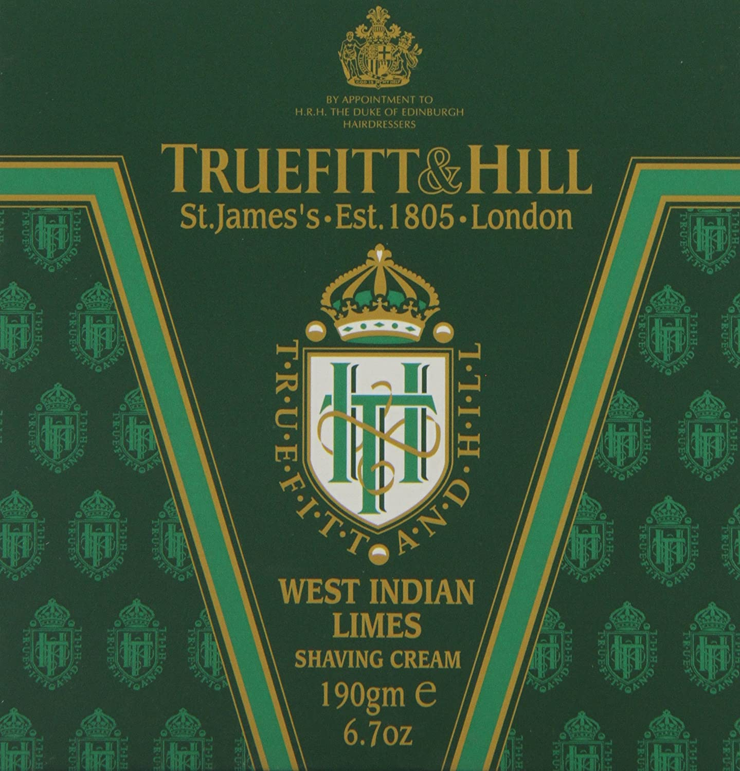 Truefitt & Hill 190 g West Indian Limes crema de afeitado cuenco 24