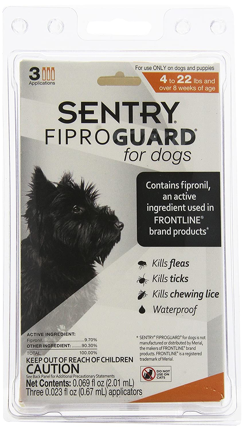 amazon com sentry fiproguard flea and tick topical for dogs 4