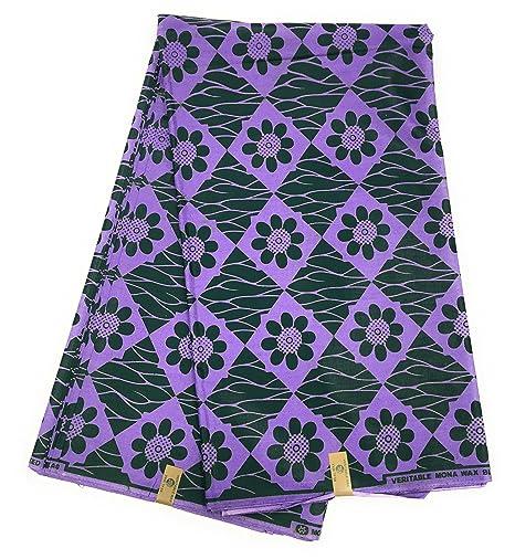 Tela de impresión africana Dashiki auténtica. Material de costura ...