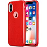 Kit Me Out World Glitter Series Case Designed for iPhone Xs Case, TPU & Inner Hard PC, Slim Fit Durable Shockproof Protection