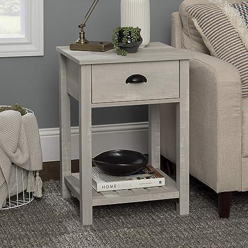 Walker Edison Country 1-Drawer Nightstand - a good cheap modern nightstand
