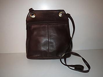 f56e012476 Marron Moka Sac à bandoulière la Moda cuir leather Sacs: Amazon.fr ...