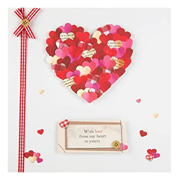 hallmark valentines day card from my heart to yours medium square