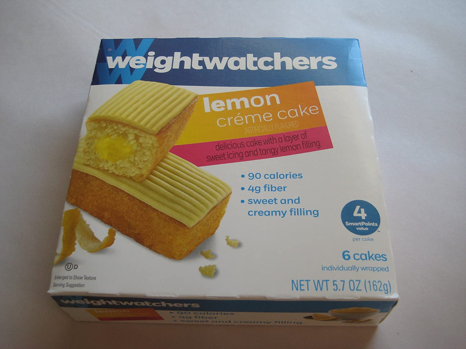 Surprising Amazon Com Weight Watchers Lemon Creme Cake 3 Pack Of 6 Cakes Funny Birthday Cards Online Overcheapnameinfo