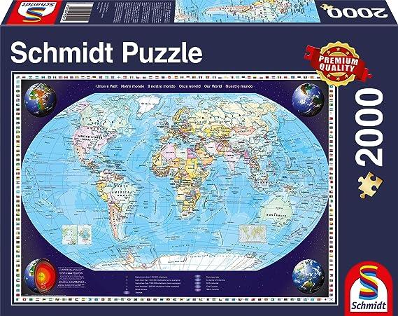 Schmidt Spiele Unsere Welt Puzzle: Amazon.es: Electrónica