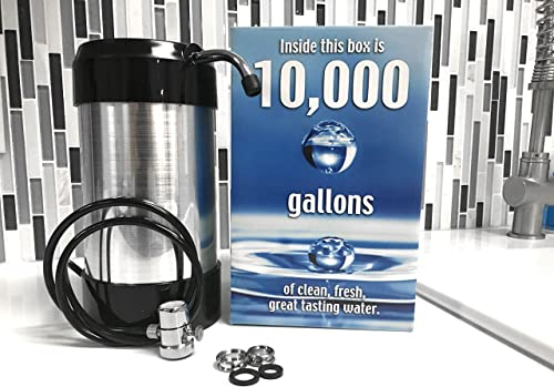 cleanwater4less Countertop Water Filtration System – No Plumbing Water Filter – Faucet Adapter