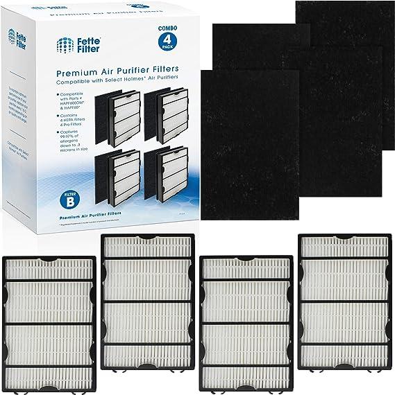 Fette Filter - Pack de 4 filtros HEPA y 8 prefiltros de carbón ...