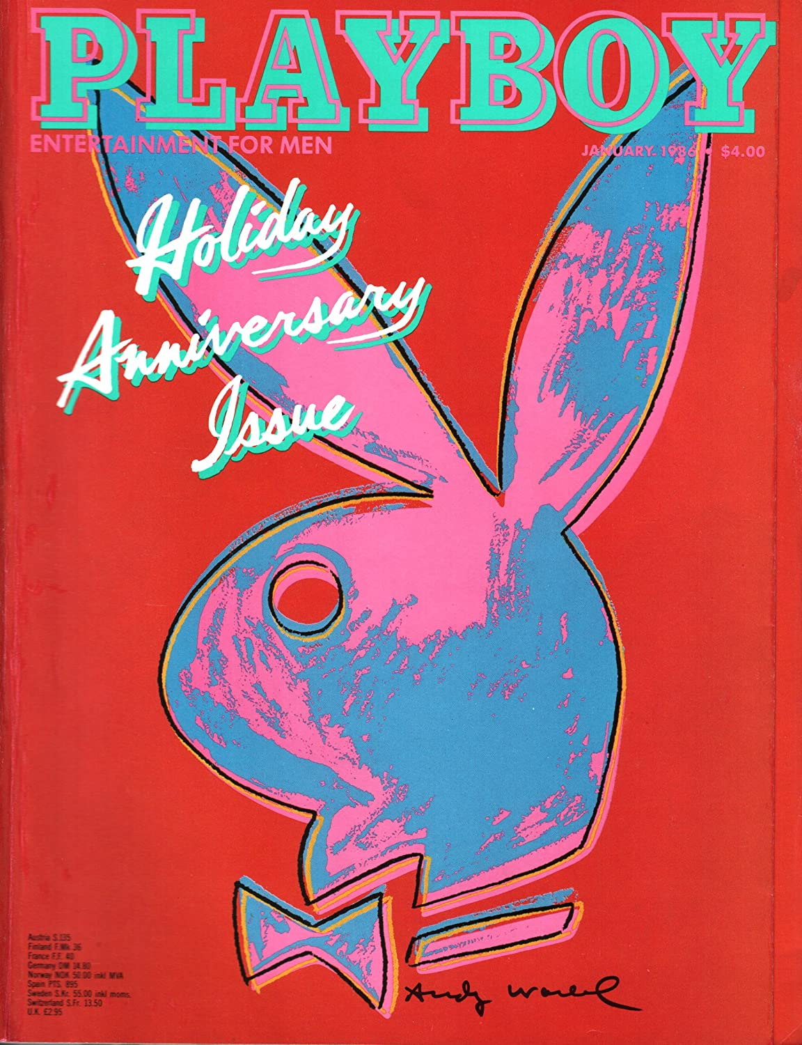 Playboy A4//A3 Poster Classic Magazine Cover Entertainment for Men