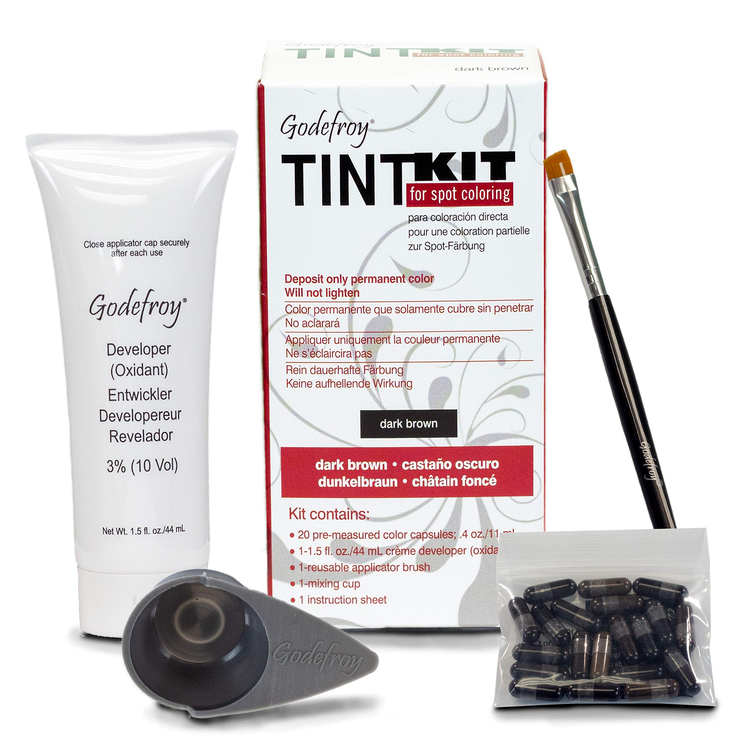 Godefroy Tint Kit for Spot Coloring, Dark Brown by Godefroy