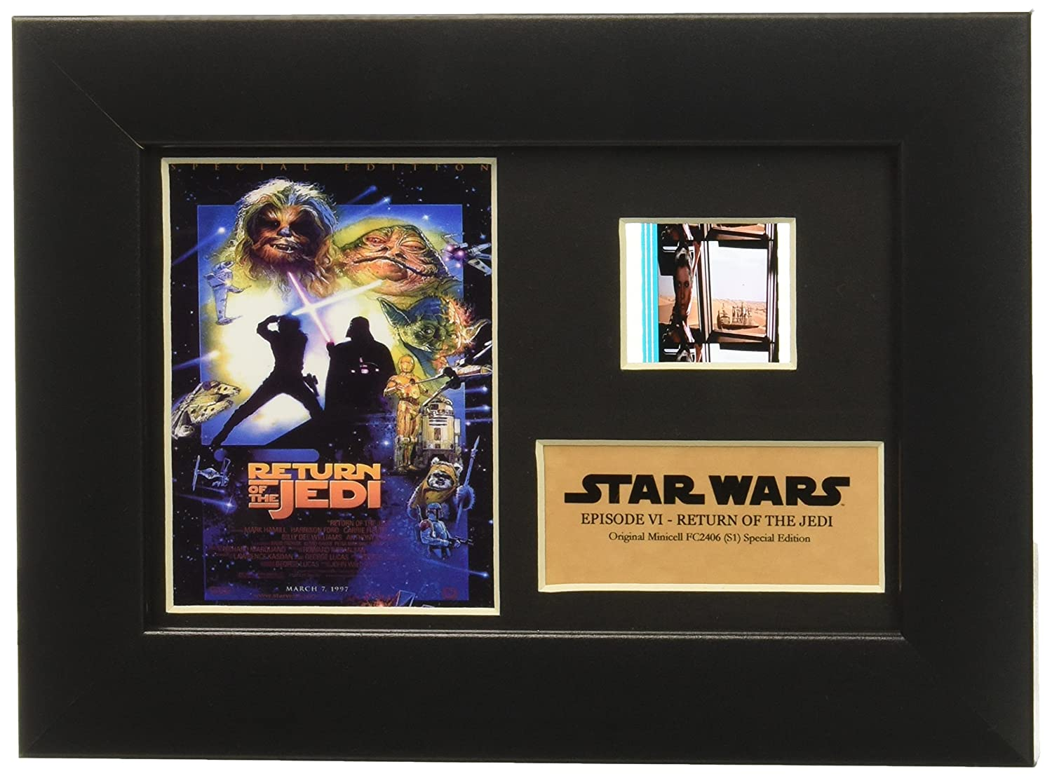 Star Wars Episode VI Return of the Jedi Authentic 35mm Film Cell Special Edition Display 7x5 Rye USFC2406