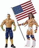 THE ULTIMATE WARRIOR & JOHN CENA - Figuras de El Último Guerrero y John Cena con bandera de Estados Unidos Basic Series 31, nuevas en caja