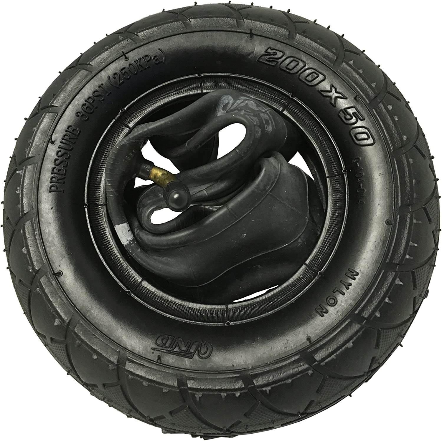 Sunlite Scooter 200x50 8x2 Inner Bike Tube With Bent Schrader Valve//Kenda//One