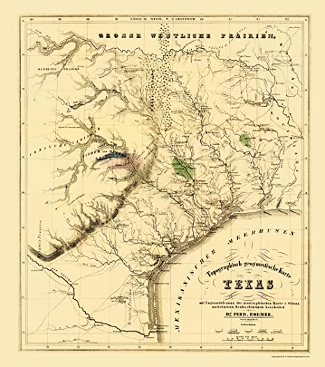 Map Of Texas During The Alamo.Amazon Com Old State Maps Texas Map Showing The Alamo By F