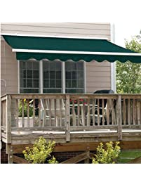ALEKO AWM20X10GREEN39 Retractable Motorized Patio Awning 20 X 10 Feet Green