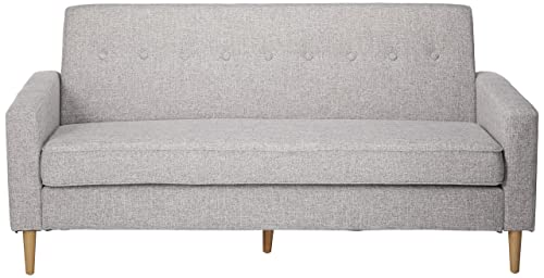 Christopher Knight Home Stratford Mid Century Modern Light Grey Tweed Fabric 3 Seater Sofa
