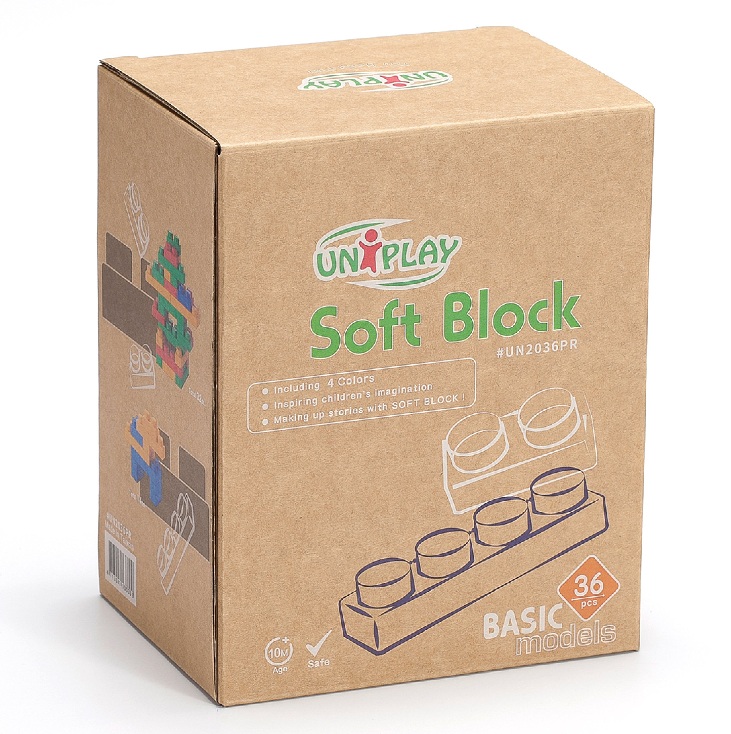 UNiPLAY Soft Building Blocks - Basic Series(36 PCS), Educational and Creative Toys, Food Grade Material(Antibacterial), Non-Toxic,100%SAFE for Kids, Toddlers, Baby, Preschoolers by UNiPLAY (Image #3)