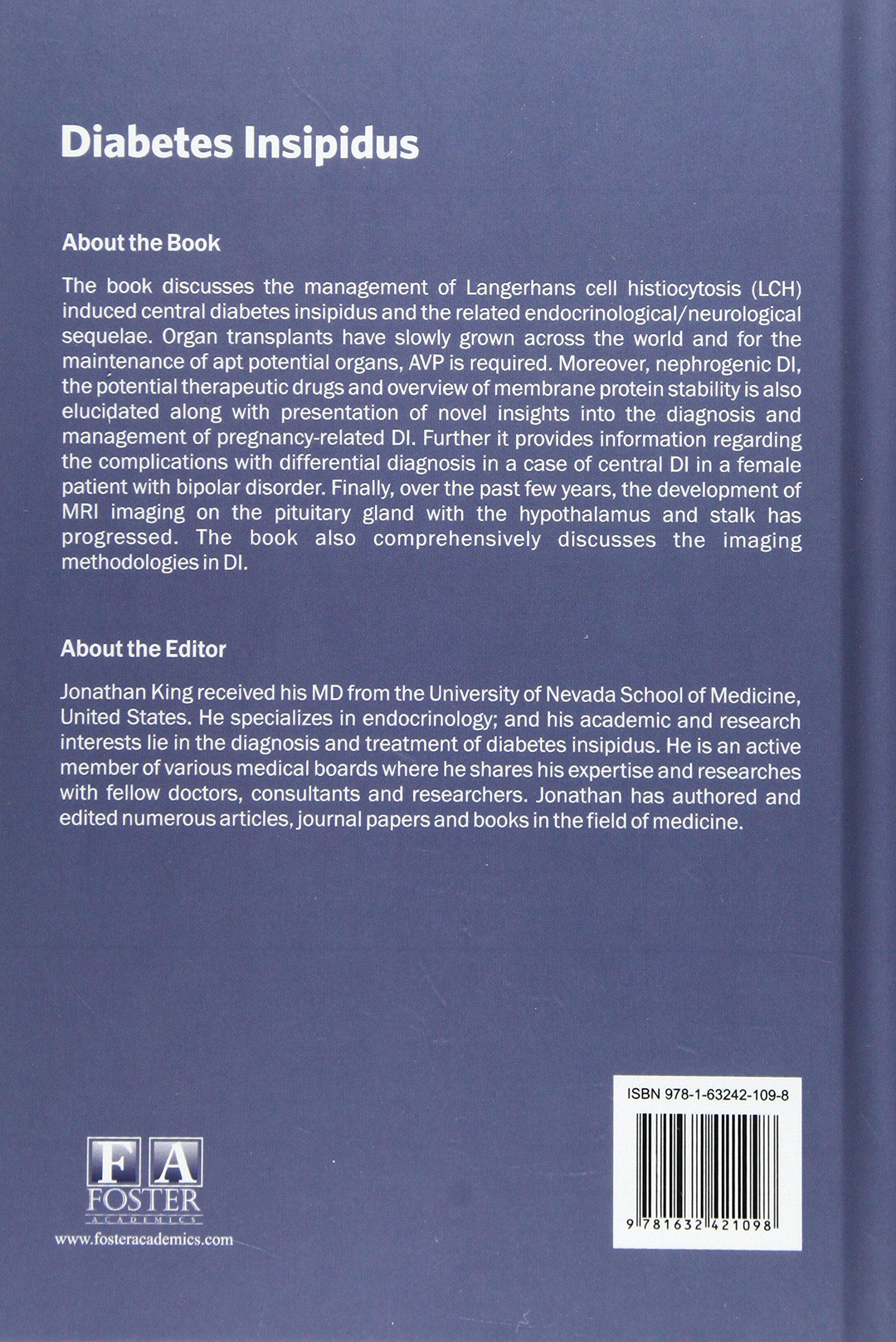 Diabetes Insipidus Jonathan King 9781632421098 Amazoncom Books