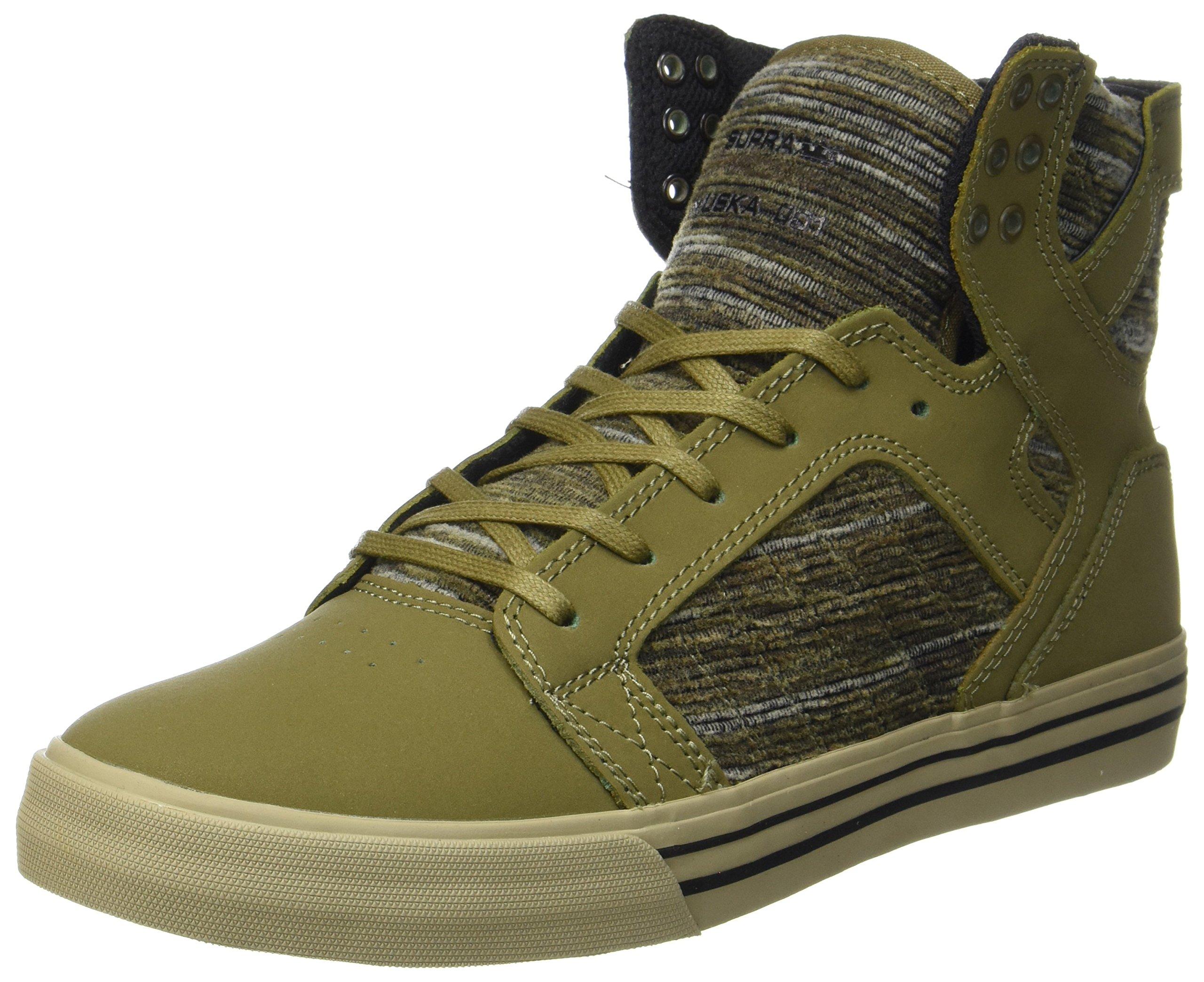 Supra Mens Skytop 2017 Shoes Size 11 Olive Multi-Sage
