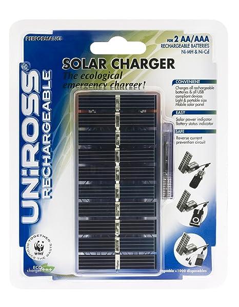 Uniross Solar Battery Charger Gris - Cargador (AAA/AA, 125 g ...