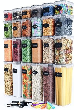 Airtight Food Storage Container Set - 24 Piece, Kitchen & Pantry Organization