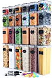 Chef's Path Airtight Food Storage Container Set - 24 PC - Kitchen & Pantry Organization - BPA-Free - Plastic Canisters…