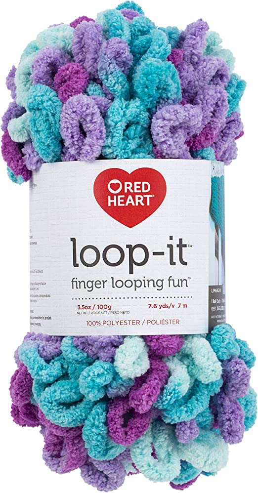 Red Heart Yarn Loop-it-tickle Pink /& Purple