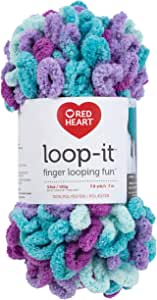 RED HEART E884.9530 Loop-It yarn Turq's and Caicos