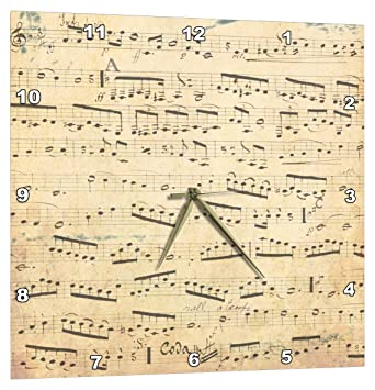 Amazon.de: 3drose Grunge Noten - Vintage Noten - vergilbt Piano ...