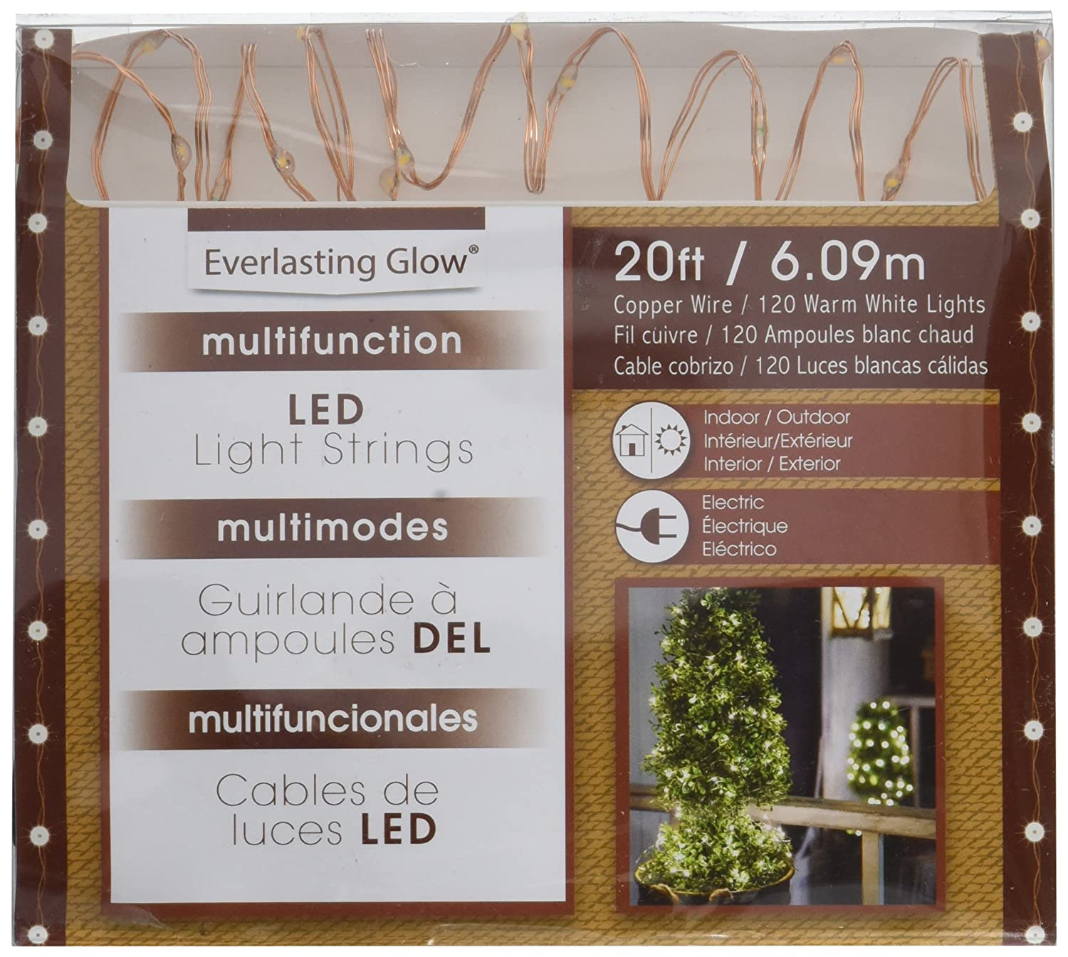 Amazon.com: The Gerson Company 93039 20\' Outdoor Electric Micro LED ...