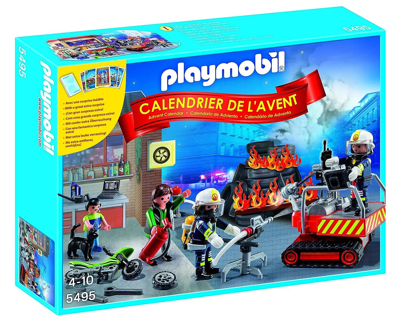 Playmobil - 5495 - Calendriers De L'avent - Brigade De Pompiers Jeux de construction
