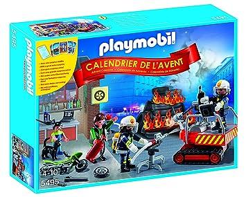 playmobil 5495 calendriers de lavent brigade de pompiers - Playmobil Pompier