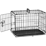 AmazonBasics Single-Door Folding Metal Dog Cage with Paw Protector (22 inches)