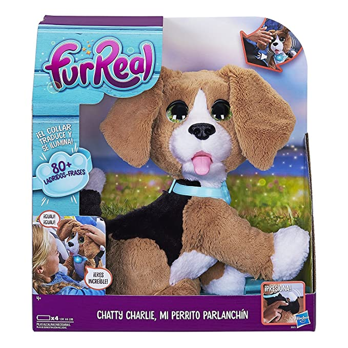 FurReal friends- Charlie, Mi Perro parlanchin, 32 x 30 x 14 cm (Hasbro B9070105)