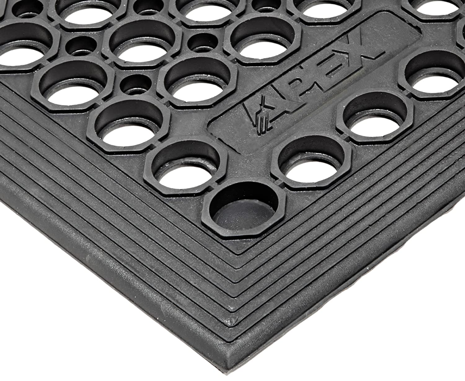 NoTrax T30 General Purpose Rubber Competitor Safety Anti Fatigue Mat for Wet Areas 3' Width x 5' Length x 1 2 Thickness Black