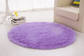 Igirls Round Silky Rugs 60u0026quot;,princess Your Daughteru0027s Bedroom!cute  Bright Shaggy Area