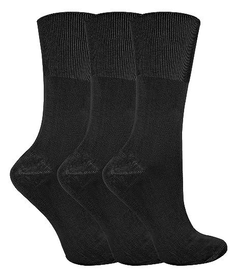 Sock Snob 3 pares mujer fantasia finos bambu colores calcetines sin elastico y presion (37