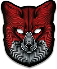 Official Animal (Fox) Sound Reactive LED Mask by Outline Montréal perfect for Halloween, Cosplay Events and Music Festivals