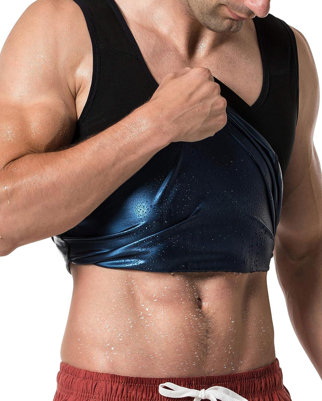 MOLLDAN Sauna Vest for Men Sweat Tank Top Pullover Workout Shirt Waist Trainer: Clothing