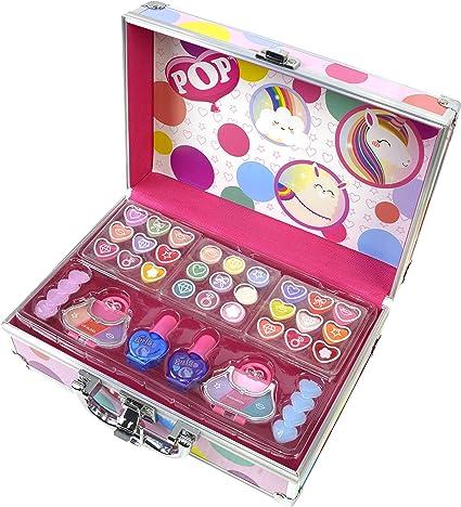 POP GIRL Color Train case - Maletín de Maquillaje - Set de Maquillaje para Niñas - Juguetes Niñas - Selección de Productos Seguros en un Maletín Muy Moderno: Amazon.es: Belleza