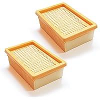 MI:KA:FI 2x Flachfaltenfilter | für Kärcher Mehrzwecksauger + Nass-/ Trockensauger | MV4 + MV5 + MV6 + WD4 + WD5 + WD6 | wie 2.863-005.0 (2)