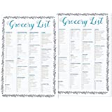 Set of 2 50-Sheet Grocery Lists Notepads - Shopping List Organizer Magnet Pad (Magnet Covers the Whole Back) 100 Sheets in Total 9.25 x 6.25 Inches