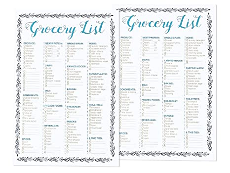 Review Best Paper Greetings To-do-List Notepad - 2-Pack Magnetic Notepads, Fridge Grocery List Magnet Pad for Shopping, To Do List Shopping Organizer, 50 Sheets Per Pad, 9.25 x 6.25 Inches