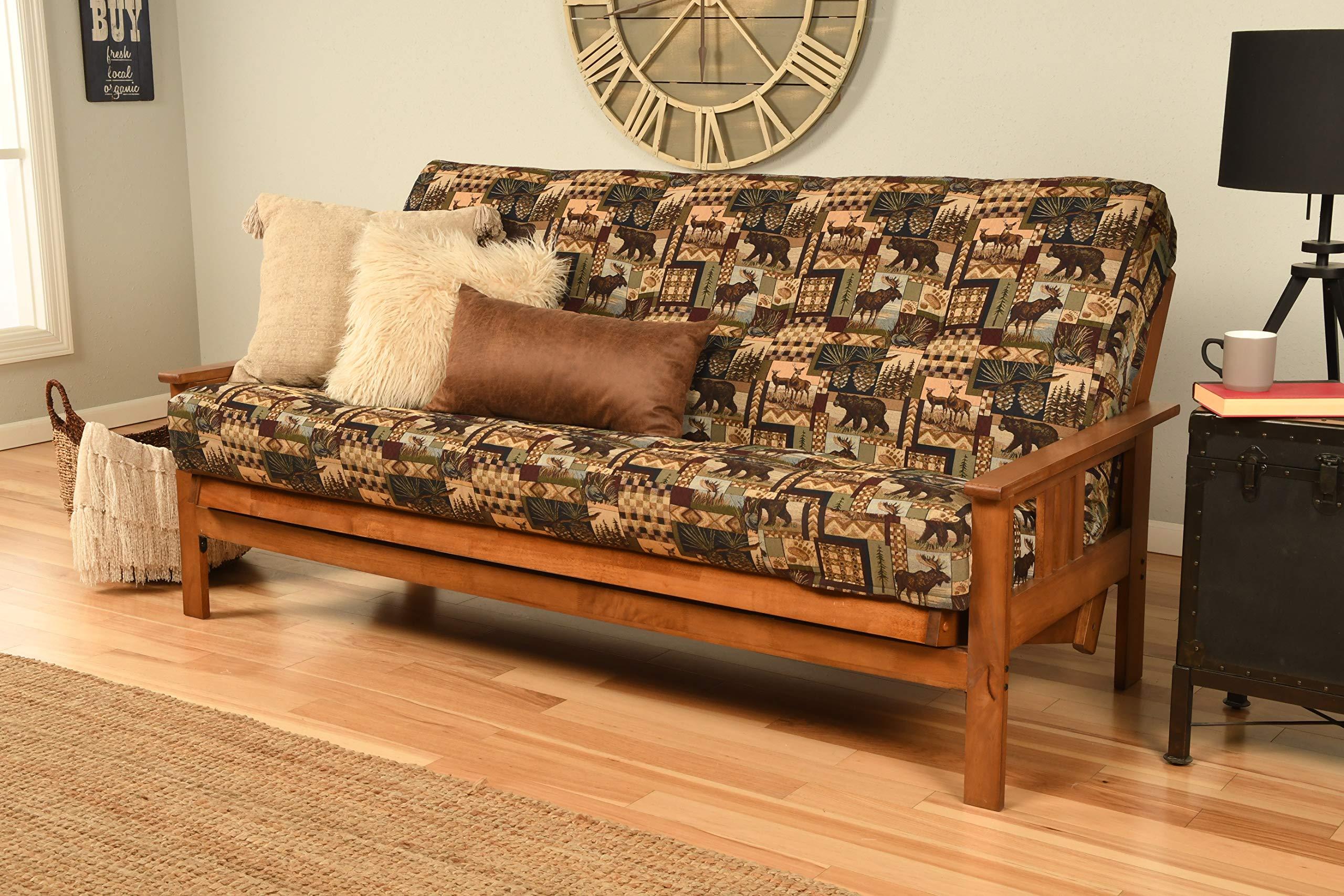 Kodiak Furniture KFMOBBPCABLF5MD3 Monterey Futon Set with Barbados Finish, Full, Peter's Cabin by Kodiak Furniture