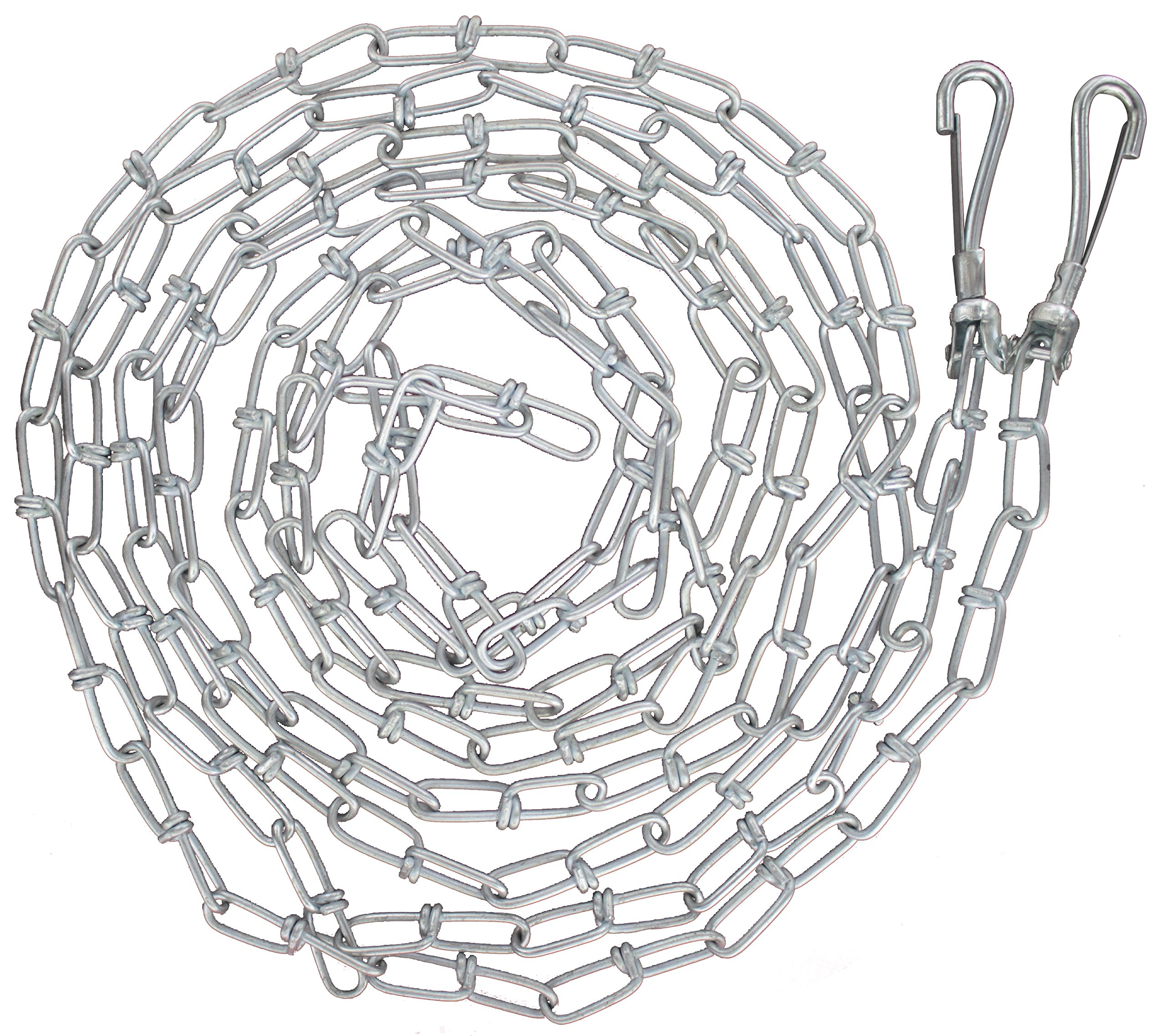 RAM-PRO Heavy Duty Large Dog Tie Out Chain Suitable for Dogs Up to 60 Pounds (14-3/4 Foot Long)